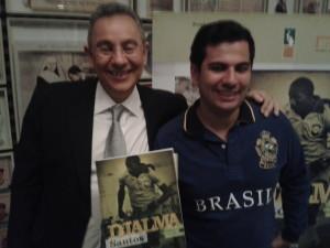 Senna e Flavio Prado Museu Futebol