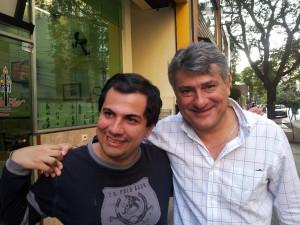Senna e Cleber Machado