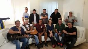 Palma Junior Eduardo Carinta c Janice Castro e Régis Ribeiro-Esporte Fantástico na Record TV-19 MAI 2018)